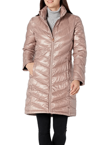 Calvin Klein Chevron Quilted Packable Down Jacket