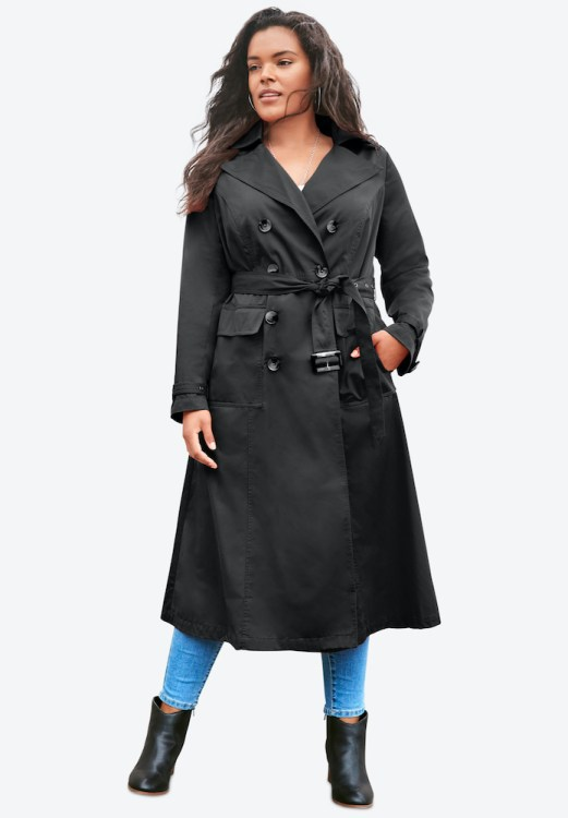 Roman's Essential Trench in black