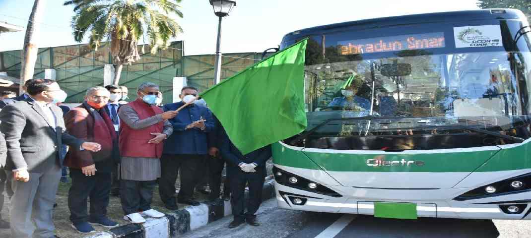 देहरादून शहर में इलेक्ट्रिक बस का हुए ट्रायल रन, देहरादून स्मार्ट सिटी लिमिटेड का फ़िलहाल 30 बसें चलाने का प्रयास 3
