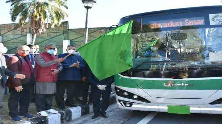 देहरादून शहर में इलेक्ट्रिक बस का हुए ट्रायल रन, देहरादून स्मार्ट सिटी लिमिटेड का फ़िलहाल 30 बसें चलाने का प्रयास 1