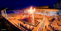 Lighting Of The 2010 Olympic Cauldron In Celebration Of ...