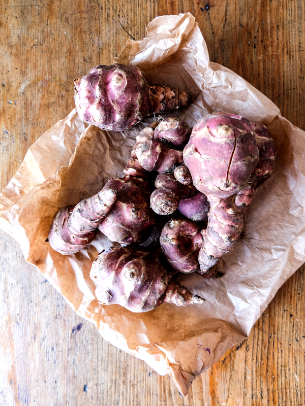 Roasted Jerusalem artichokes with lemon aioli | Hello Victoria