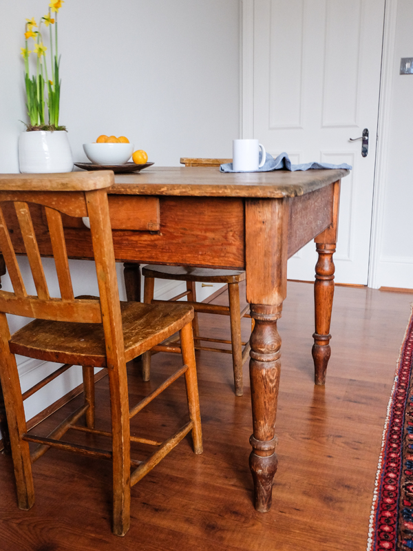 Antique farmhouse table | Hello Victoria