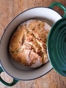 Roasted garlic no-knead bread | Hello Victoria