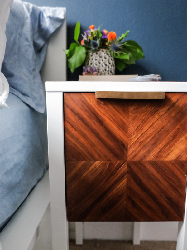 IKEA hack: wood inlay side table | Hello Victoria