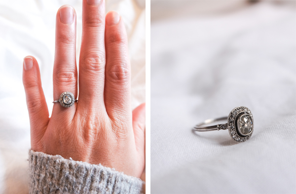 Antique halo engagement ring | Hello Victoria