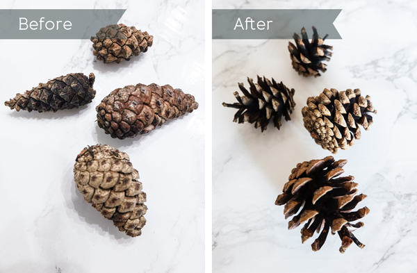 DIY pine cone wreath - how to open pine cones | Hello Victoria