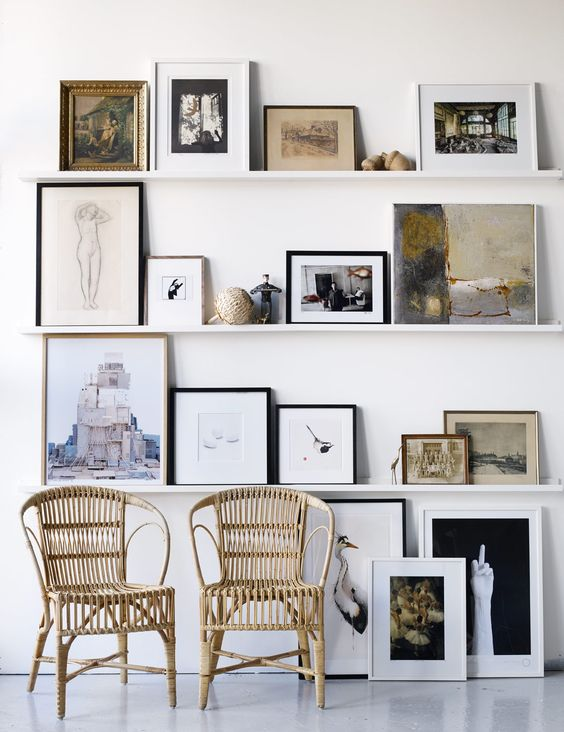 Art ledge inspiration | Hello Victoria