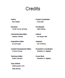 credit page - openstack essentials second edition