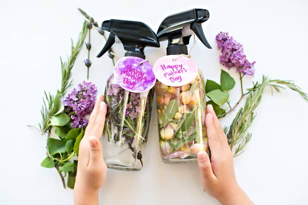 KID MADE DIY MOTHERS DAY FLORAL HERB PERFUME