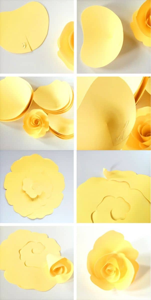 How To Make Diy Paper Roses With Free Printable Template