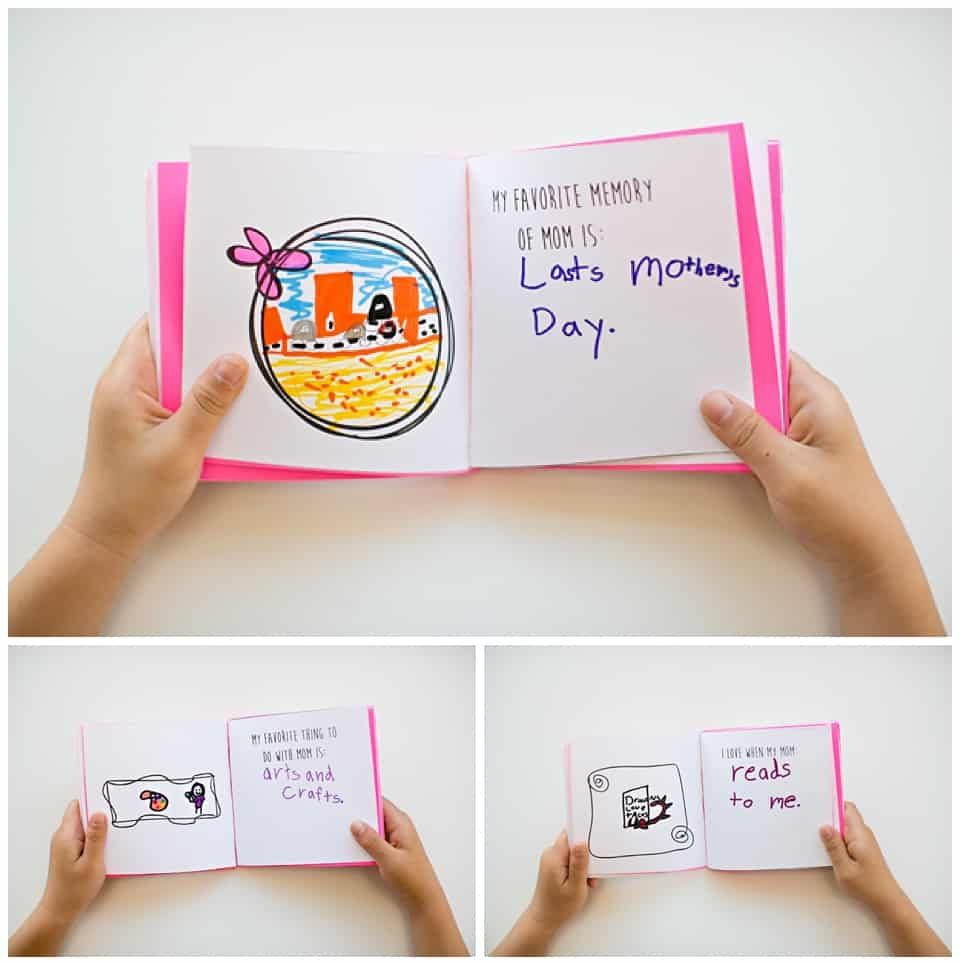 free printable mothers day book for kids