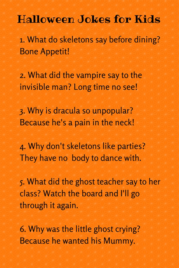 Use them as lunch box jokes or joke of the day with our free printable! Cute Halloween Jokes For Kids