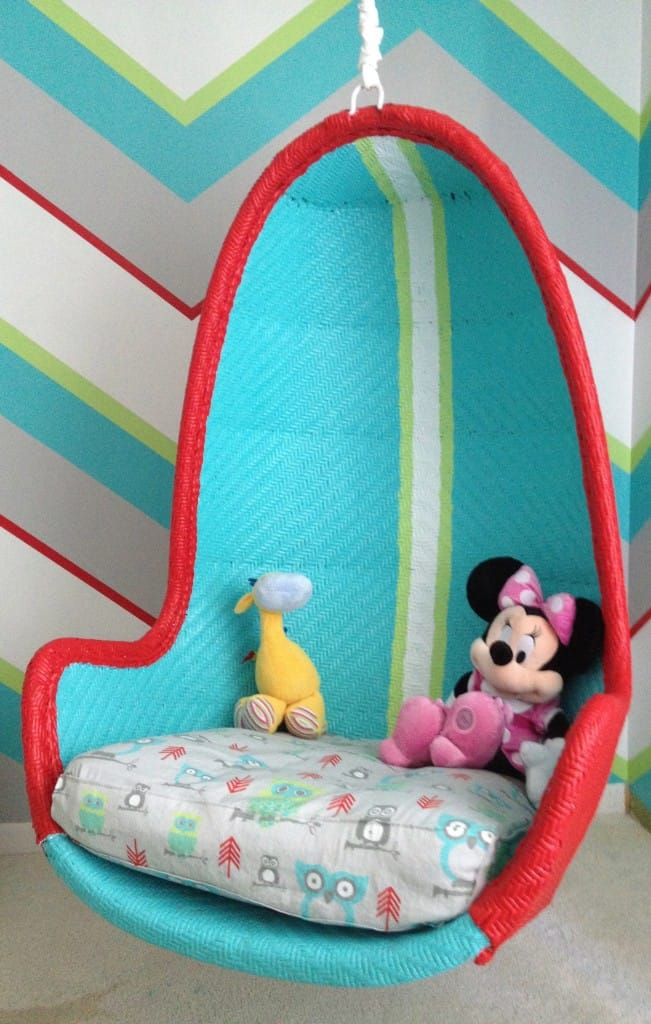 chairs for kids room comfortable bedrooms 10 awesome hanging red and turquoise via project nursery don t be afraid to decorate your chair fit child s decor i love this brightly painted