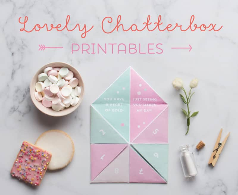 CUTE VALENTINE CHATTERBOX FREE PRINTABLE