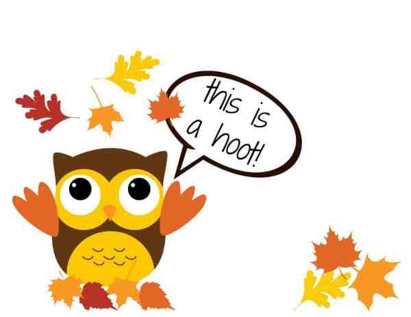 Thanksgiving Owl Clip Art Free