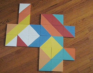 MAKE GEOMETRIC TILE PUZZLES