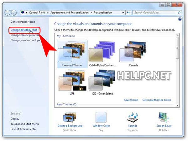 how to change start icon in windows 7