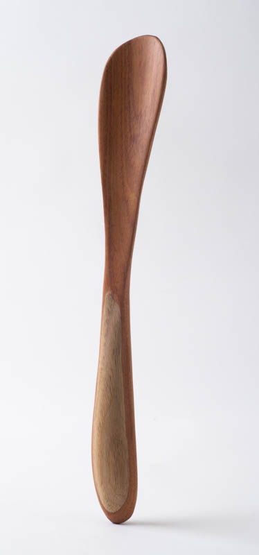 Standard Spatula, in rosewood and butternut