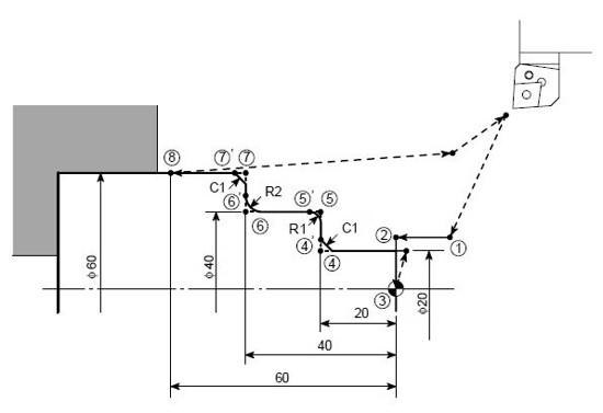 Mori Seiki DuraTurn Programming Example G01 (Chamfering