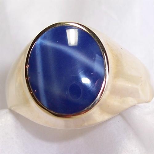 Blue Star Sapphire Ring