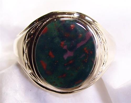 Mens Bloodstone Ring