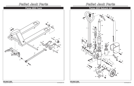 Toyota pallet jack parts list