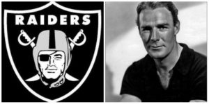 Raiders Logo And Model Randolph Scott