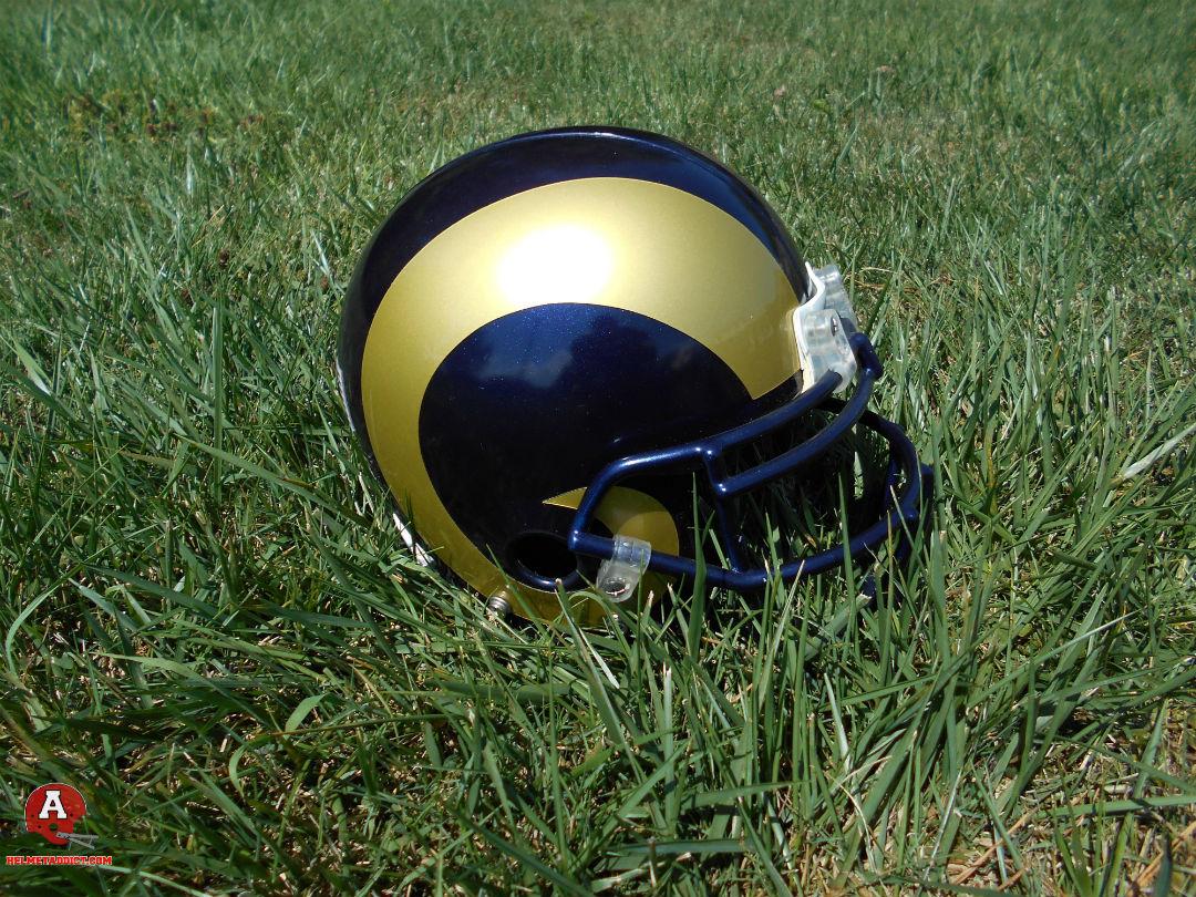 7443be46 Los Angeles Rams Helmet History   Custom Refurbished Rams Helmet