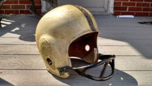 This helmet cost $5 at the flea market, but needs lots and lots of work.