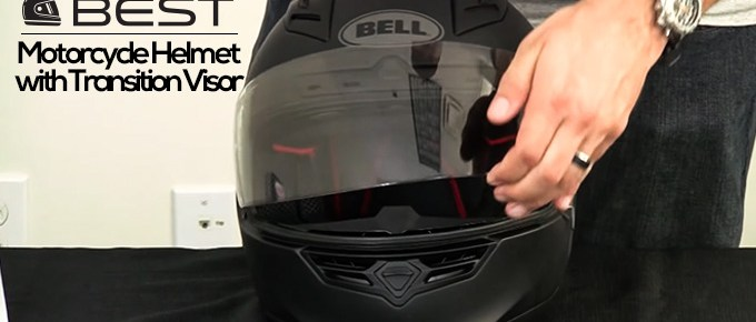 Motorcycle Helmet with Transition Visor
