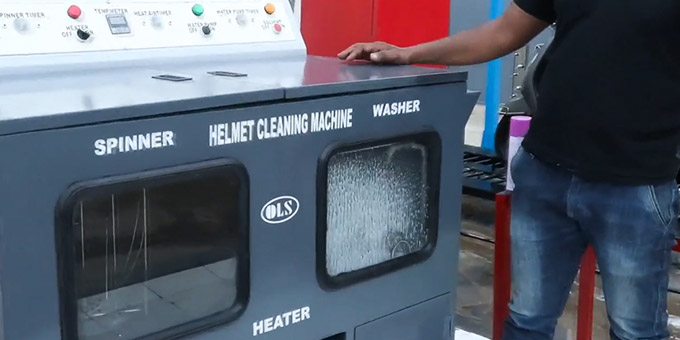Helmet Washing Machine