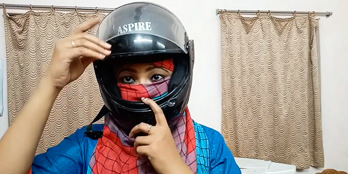 How to Wear a Motorcycle Helmet with Long Hair