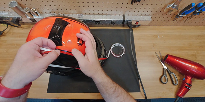 What is a Reflective Tape for Motorcycle Helmets FI
