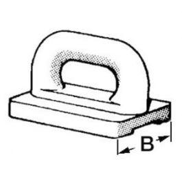 Nylon mainsail slide 22 mm Osculati