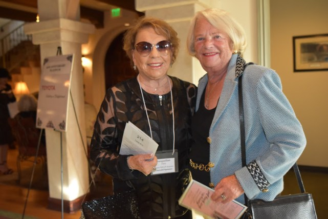 Jacky Glass, Emerald Sponsor and former honoree, with Kay Wardell.