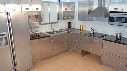 metal cabinets kitchen diy pull out shelves review the blog and appliances made of stainless steel
