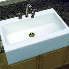 Single Bowl Cast Iron Kitchen Sink Backsplash Options Sinks All That You Need To Know About Them The An Apron Front White In Combination With Granite Counters And