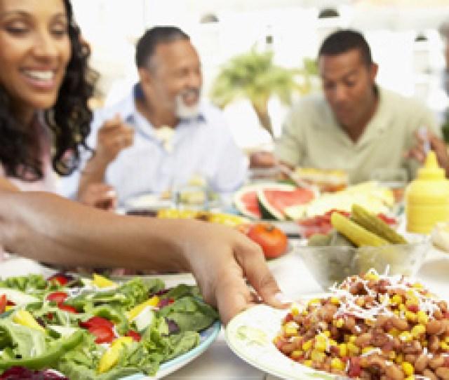 Family Outdoor Food Spread