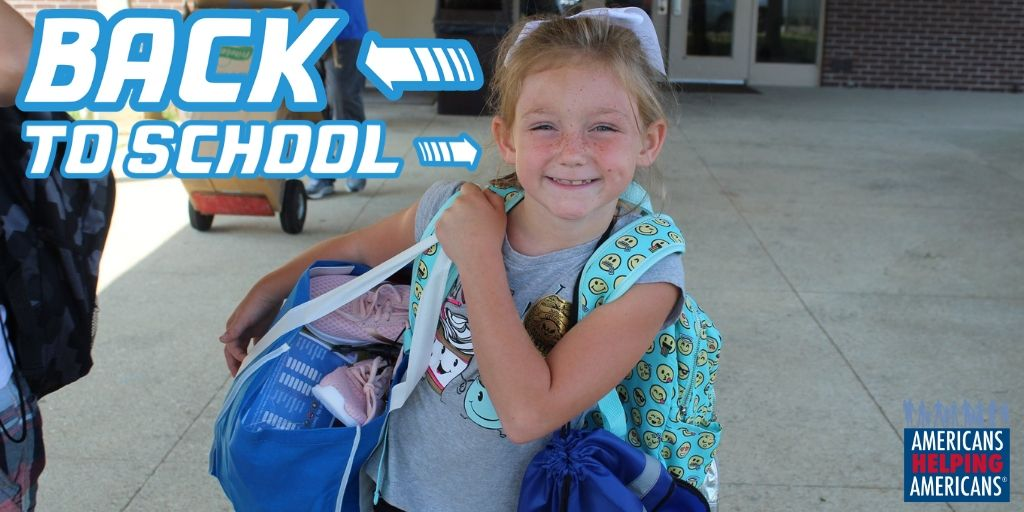 Little girl gets ready to go back to school in Appalachia