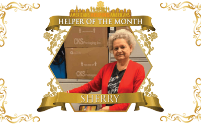 Congratulations to Sherry Lanham – Helper of the Month for June!