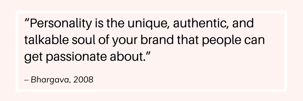 Website branding personality quote