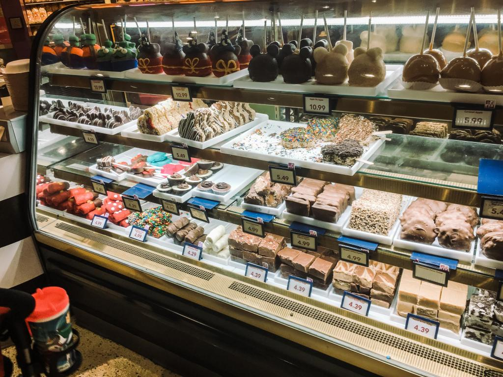 Dessert case at Disney Springs