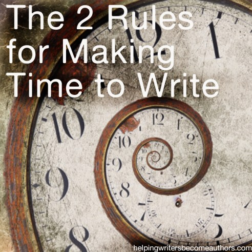 the two rules for making time to write