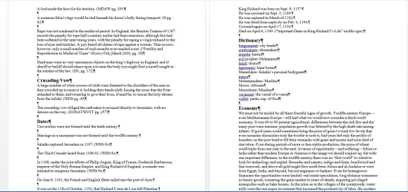 Screenshot of Research Word Document File From Behold the Dawn by K.M. Weiland