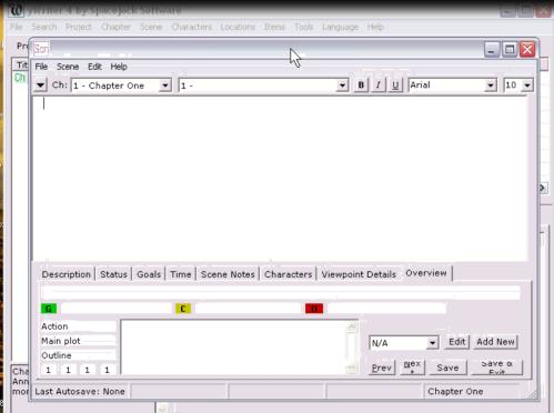 Scene Box in yWriter Writing Software Tutorial