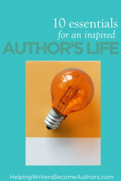 10 Essentials for an Inspired Author's Life Pinterest
