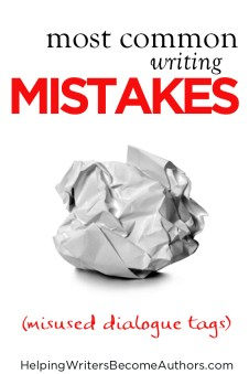 most common writing mistakes misused dialogue tags