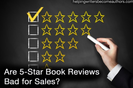 are five star book reviews bad for sales