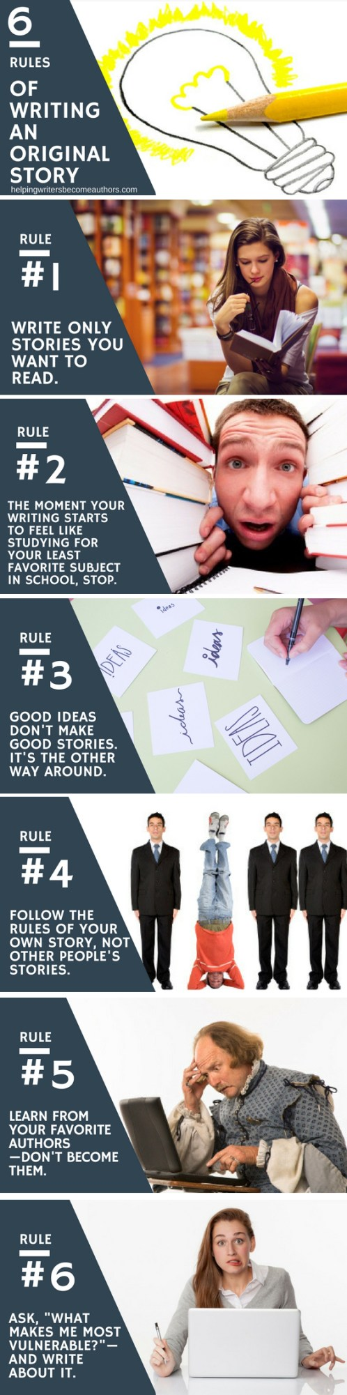 6 Rules of Writing an Original Story Infographic